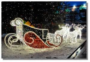 Santa s sleigh and reindeer have been a feature of the christmas