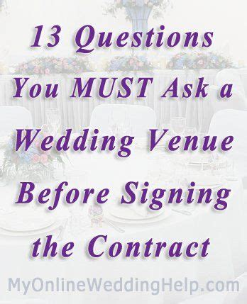 wedding invitations questions to ask wedding venue contract tips 13 questions to ask before