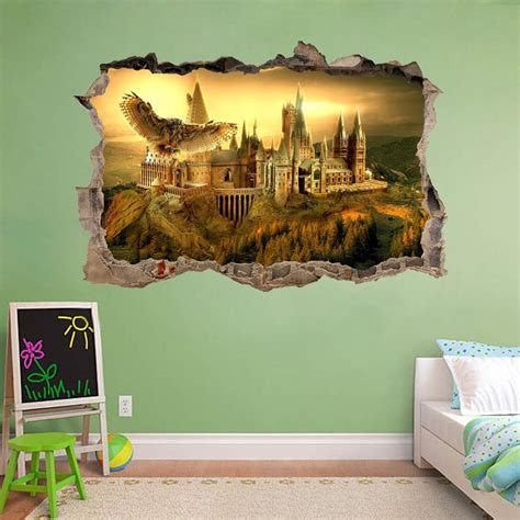 removable wall murals hogwarts harry potter smashed wall decal removable wall