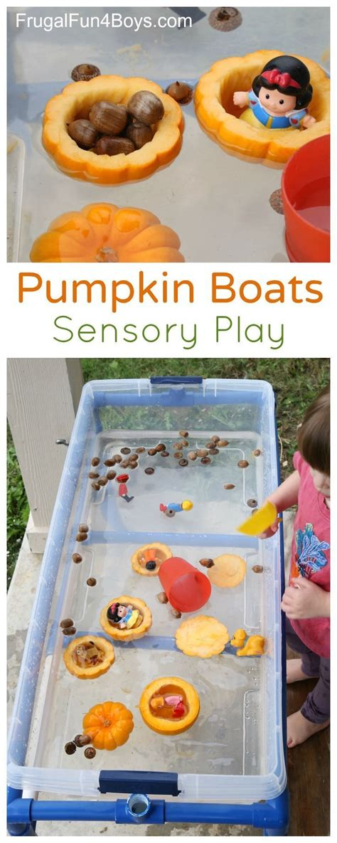 pumpkin boat pumpkin boats fall sensory play idea play ideas sensory