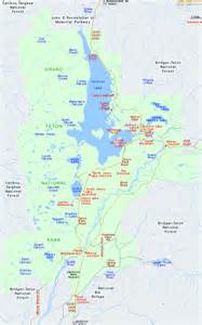 grand national park us map map of grand teton national park wyoming