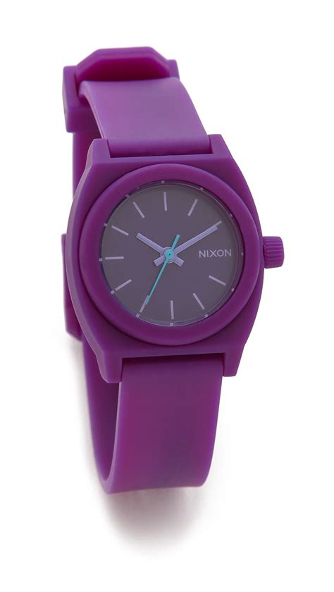 Nixon Small Time Teller nixon small time teller p teal in purple lyst