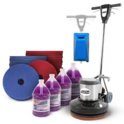 floor scrubbing cleaning package with a 17 quot floor buffer