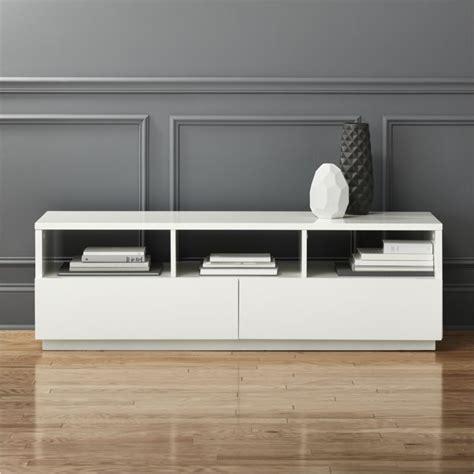 white modern media console white lacquer media console homesfeed