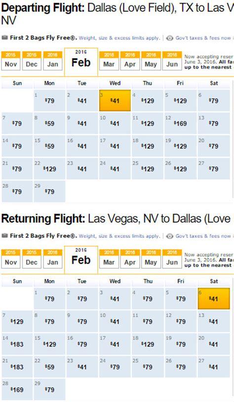 Calendar Cheap Flights Southwest Airlines Cheap Flights Calendar Southwest