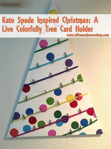 spade a kate spade inspired a live colorfully tree card holder