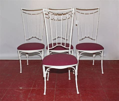 painted faux bamboo furniture four painted faux bamboo wrought iron chairs for sale at