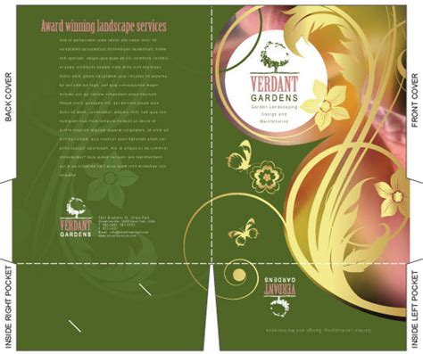 Illustrator Brochure Templates Free by Free Illustrator Templates Company Folder Brochures