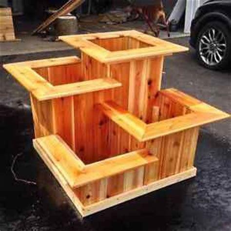 cedar planter boxes best 25 rectangular planter box ideas on