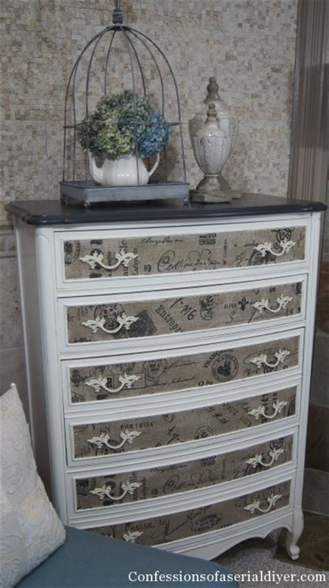 fabric decoupage dresser 16 creative ways to decoupage furniture in the garage 174