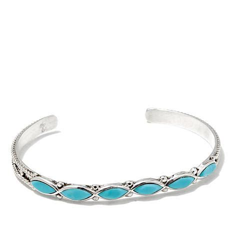 Chaco Canyon Sleeping Beauty Turquoise Zuni Sterling Silver Cuff Bracelet   8119006   HSN