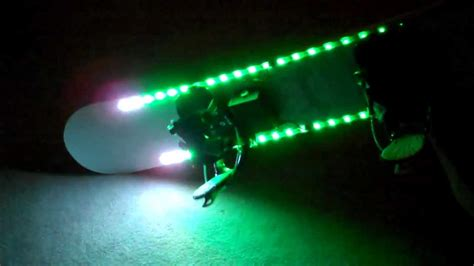 Snowboard Led Lights by Led Snowboard Motion Controlled Lighting Demos