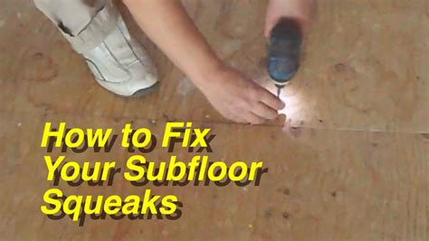 how to repair squeaky floorboards yourself tiphero how to fix your plywood subfloor squeaks for laminate