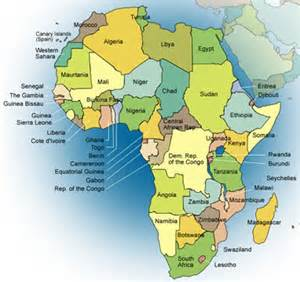 Africa World Map by World Map Maker