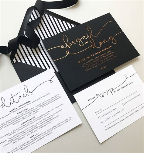kate foil wedding invitations by project pretty notonthehighstreet
