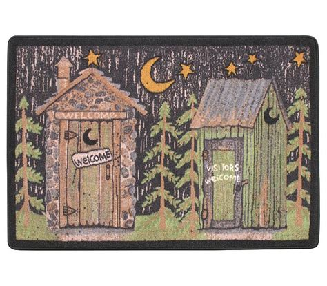 cabin bathroom rugs rustic lodge outhouse bathroom rug mat out to the woods ebay