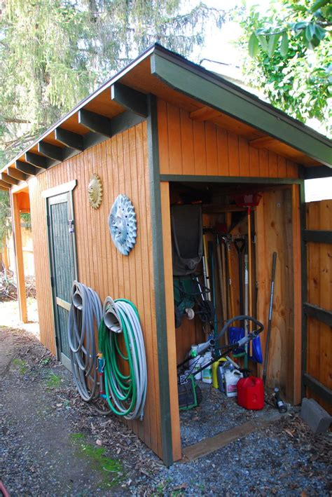 hometalk rustic fall garden shed hometalk diy wood shed with critter proof foundation