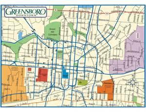 greensboro carolina map greensboro nc maplets