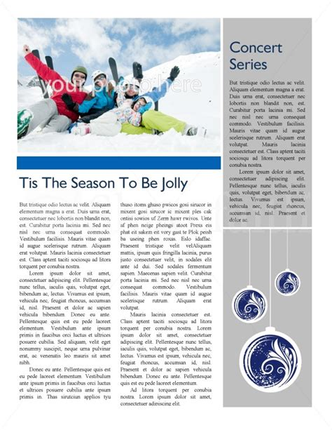 winter newsletter templates winter newsletter template newsletter templates