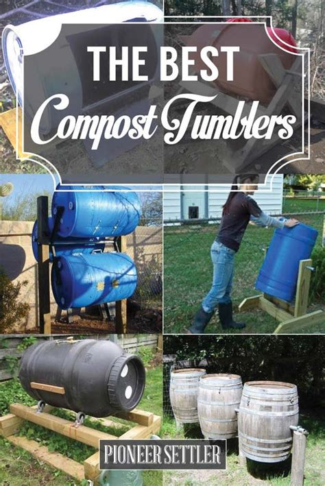 compost tumblers diy composting homesteading