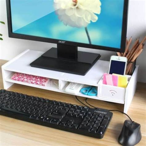 Computer Monitor Stand For Desk The 25 Best Ideas About Monitor Stand On Monitor Stand Ikea Neat Desk And Printer