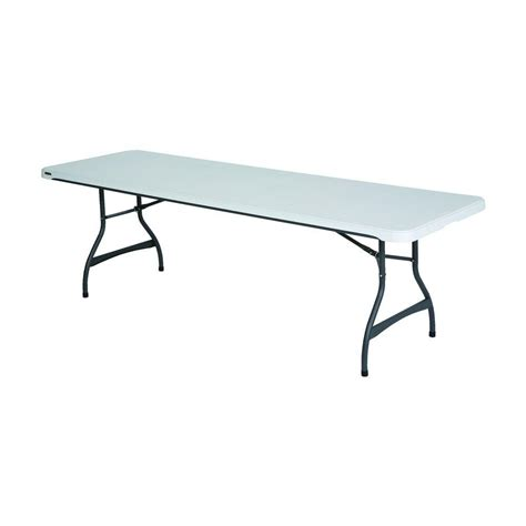 8 folding table home depot lifetime 8 ft almond fold in half table 80175 the home