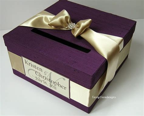 Personalized Wedding Gift Card Box - wedding gift card box custom made