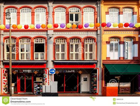 Old Victorian House Plans colorful shophouses in singapore chinatown royalty free
