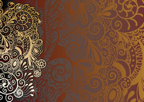 paisley pattern wallpaper vector paisley background with silhouettes vector download