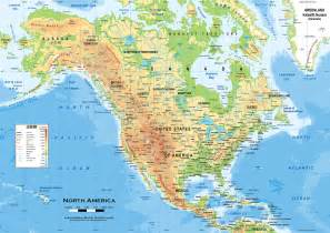 Usa Physical Map by Pics Photos Physical Map Of North America For Kids