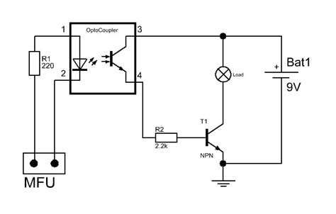 optocoupler load resistor lcd goes wrong when load connected to relay page 2
