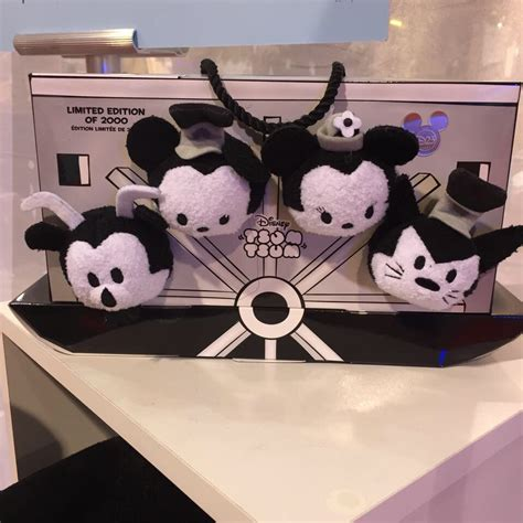 Japan Disney Tsum Tsum Black Mickey Edition a look at the new steamboat willie tsum tsum collection