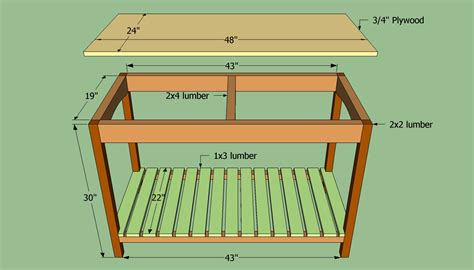 wooden kitchen island plans pdf woodworking
