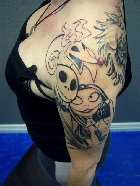 jack tattoos sally and zero done by hansen this