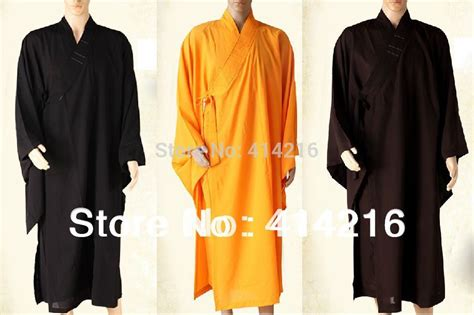 unisex buddhist monks robes suits clothes gown