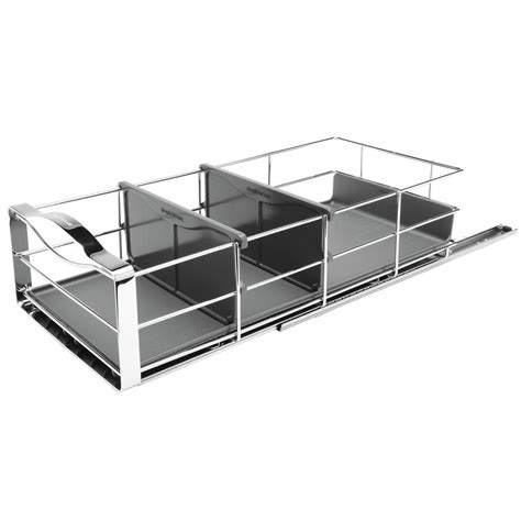simplehuman 20 pull out cabinet organizer simplehuman 9 in pull out cabinet organizer in polished