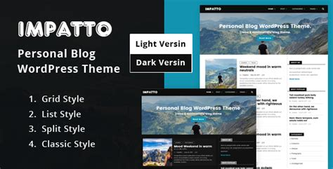 wordpress themes not blog impatto personal blog wordpress theme no warez not