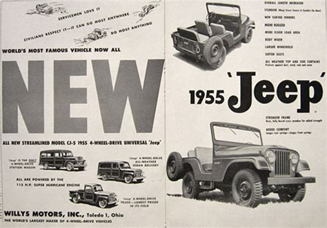 vintage jeep ad 1955 vintage cj 5 jeep ad vintage jeep willys ads