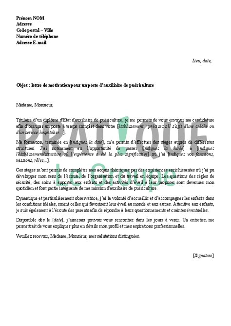 Lettre De Motivation De Avs Modele Lettre De Motivation Stage Auxiliaire De Vie Document