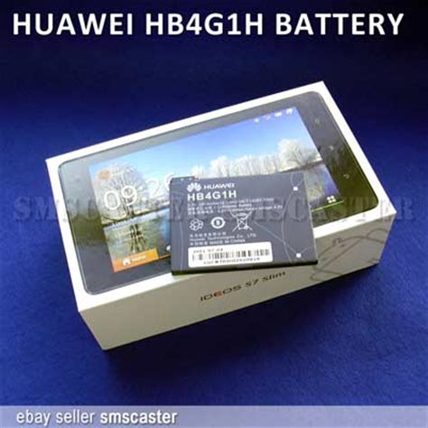 Baterai Huawei Hb4g1h For Huawei S7 Slim 3250mah Original huawei hb4g1h battery for ideos s7 slim android tablet ebay
