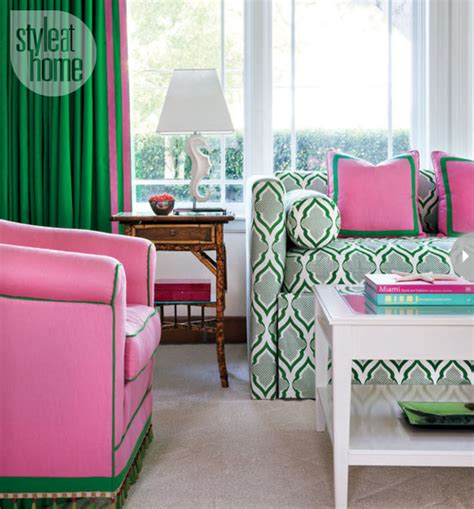 preppy home decor mix and chic home tour a bright and preppy miami guest