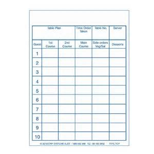 table order pad pack of 50