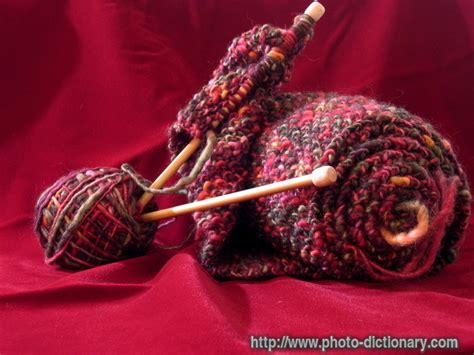 define knitted knitting photo picture definition at photo dictionary