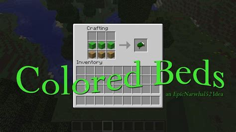 how to craft a bed in minecraft colored beds minecraft idea minecraft blog