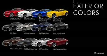 Lexus Paint Colors Lexus Lc Available Colors