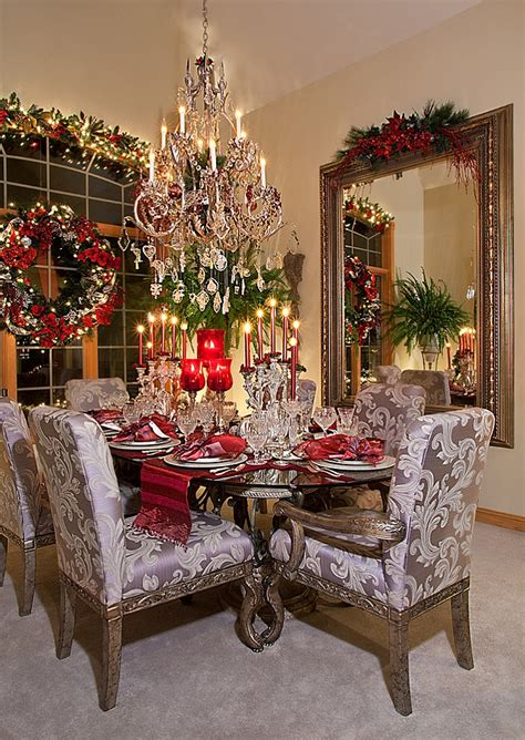 christmas decorated rooms 21 christmas dining room decorating ideas with festive flair