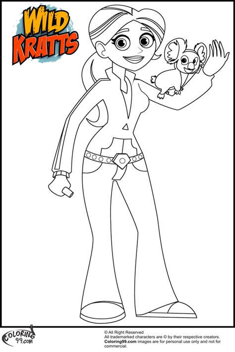 free coloring pages of wild wild kratts