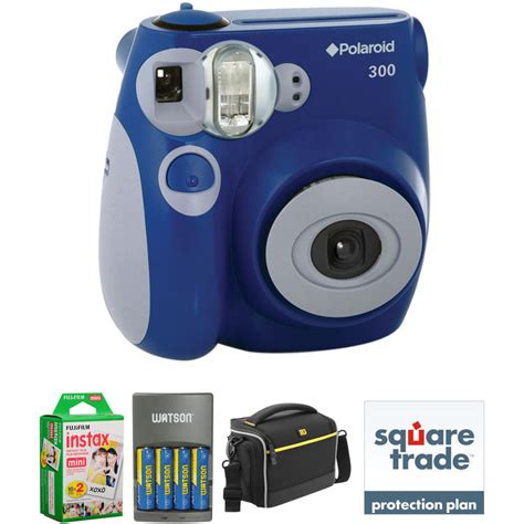 polaroid 300 instant blue polaroid pic 300 instant basic kit blue b h