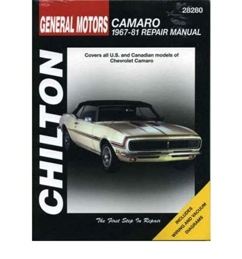 download chilton s 1979 chevrolet camaro automotive repair