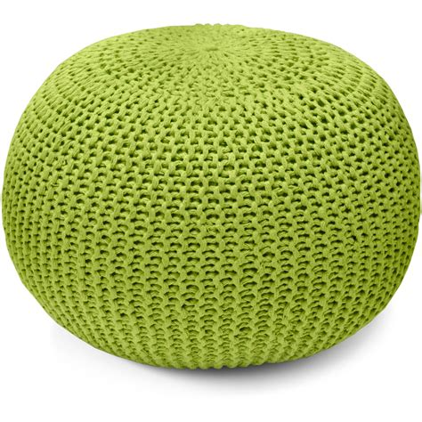 How To Make A Knitted Pouf Ottoman Furniture Comfortable Soft And High Quality With Knitted Pouf Ottoman Tristancoopersmith